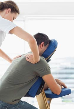 Shiatsu Chair Massage for employees